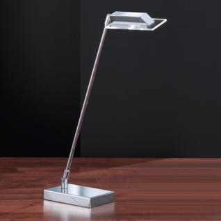 Design Tischleuchte, chrom, Höhe bis 49 cm verstellbar