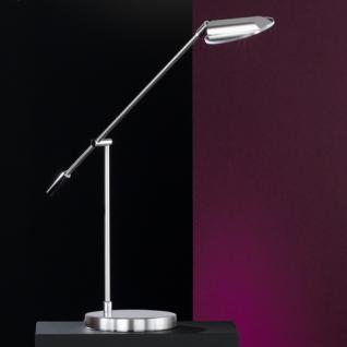 Design Tischleuchte, mattnickel/chrom, verstellbar, Glas klar Ø 10,5 cm - Vorschau