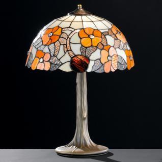 Design Tischleuchte, altmessingfarbig, Ø 39 cm