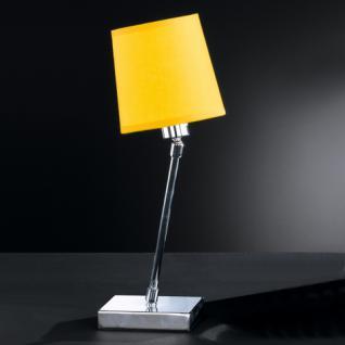 Design Tischleuchte, chrom, Ø 12 cm