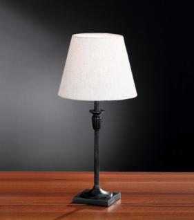 Design Tischleuchte, rostfarbig antik, Ø 22 cm