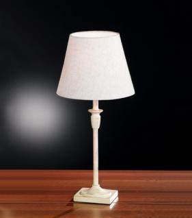 Design Tischleuchte antik weiß goldfarbig Ø 22 cm