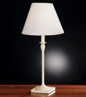 Design Tischleuchte, antik weiß/goldfarbig, Ø 30 cm