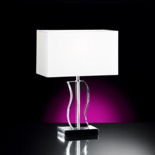 Design Tischleuchte, chrom, Höhe 39 cm