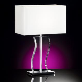 Design Tischleuchte, chrom, Höhe 50 cm