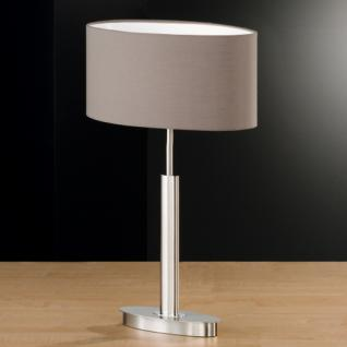 Design Tischleuchte, mattnickel/chrom, Höhe 53 cm