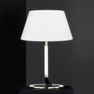 Design Tischleuchte, chrom, Höhe 44 cm