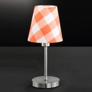 Design Tischleuchte, mattnickel, Höhe 25 cm - Vorschau