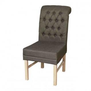 Stuhl geknöpft gepolstert im Landhausstil in vier Farben - Vorschau