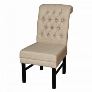 Stuhl geknöpft gepolstert im Landhausstil in vier Farben