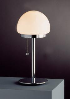 Tischleuchte im klassischen Design, Opalglas, weiß, Höhe 42 cm - Vorschau 2