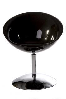 Design Drehstuhl in schwarz - Vorschau 3