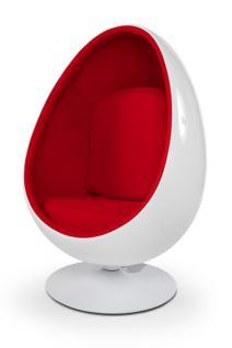 Design Sessel in weiß/rot
