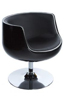 Design Drehstuhl in schwarz