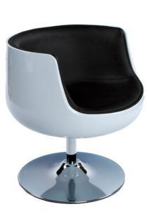 Design Drehstuhl in weiß/schwarz - Vorschau 1