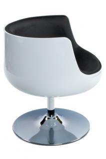 Design Drehstuhl in weiß/schwarz - Vorschau 4