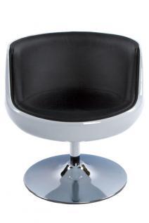 Design Drehstuhl in weiß/schwarz - Vorschau 3