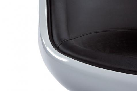 Design Drehstuhl in weiß/schwarz - Vorschau 2