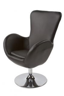 Design Sessel in schwarz - Vorschau 3