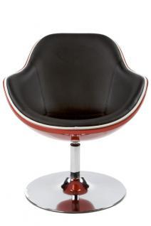 Design Drehstuhl in rot/schwarz - Vorschau 3