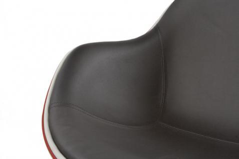 Design Drehstuhl in rot/schwarz - Vorschau 4