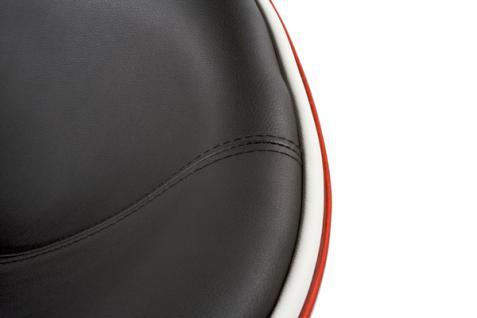 Design Drehstuhl in rot/schwarz - Vorschau 2