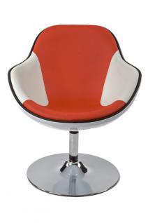 Design Drehstuhl in weiß/rot