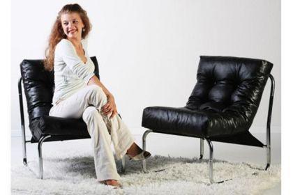 Design Stuhl in schwarz - Vorschau 5