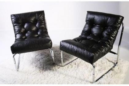 Design Stuhl in schwarz - Vorschau 4