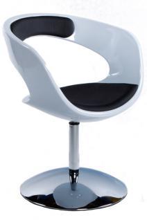 Design Stuhl in weiß/schwarz
