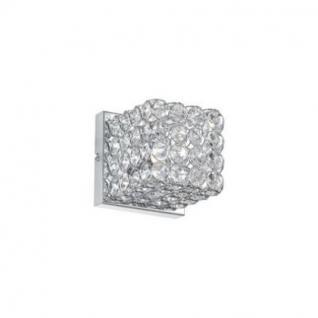Wandleuchte Metall chrom oder gold, Kristall transparent, modern - Vorschau