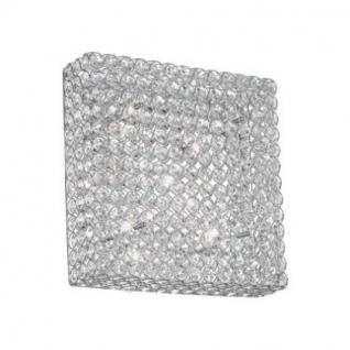 Decken- / Wandleuchte Metall chrom oder gold, Kristall transparent, modern - Vorschau