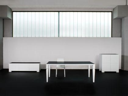 Design Esstisch, Farbe schwarz-weiß - Vorschau 3