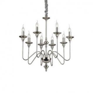 kronleuchter metall chrom glas transparent samt grau kaufen bei richhomeshop. Black Bedroom Furniture Sets. Home Design Ideas