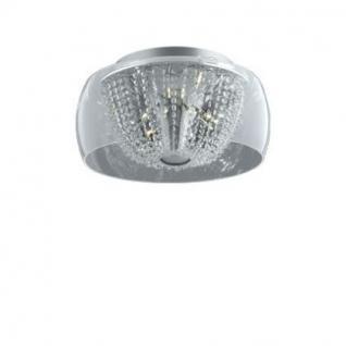 Deckenleuchte Metall chrom, Glas, Kristall transparent, modern - Vorschau