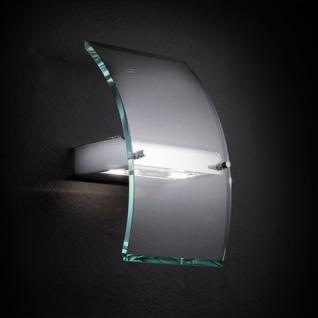 Wandleuchte Metall chrom, Glas transparent - Vorschau