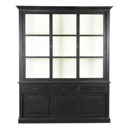 vitrinenschrank geschirrschrank im landhausstil mit. Black Bedroom Furniture Sets. Home Design Ideas