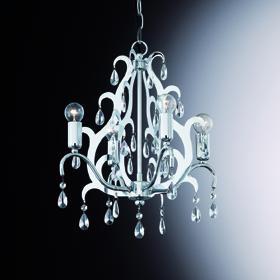 Pendel-/ Kronleuchter Kristall transparent, Metall chrom - Vorschau