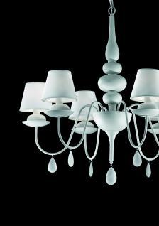 kronleuchte pvc folie stoff metall wei modern kaufen bei richhomeshop. Black Bedroom Furniture Sets. Home Design Ideas