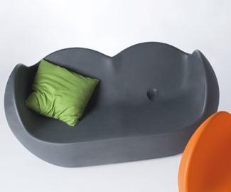 Designer Sessel in Schwarz/lila Blossy - Vorschau 2