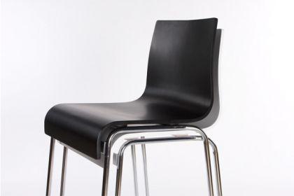Design barstuhl in schwarz kaufen bei richhomeshop for Design barstuhl