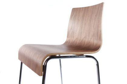 Design barstuhl in walnuss kaufen bei richhomeshop for Design barstuhl
