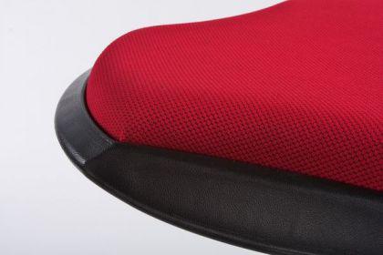 Design Barhocker in schwarz/rot flexibler Sockel - Vorschau 4