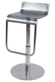 Design Barhocker aus gebürstetem Stahl - Vorschau 1