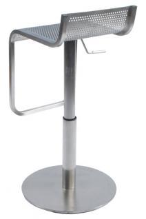 Design Barhocker aus gebürstetem Stahl - Vorschau 5