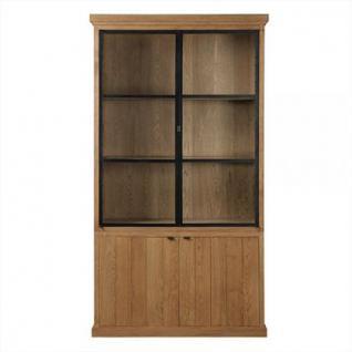 vitrinen geschirrschrank mit vier t ren im landhausstil. Black Bedroom Furniture Sets. Home Design Ideas