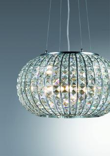 Pendelleuchte Kristall transparent, Metall chrom