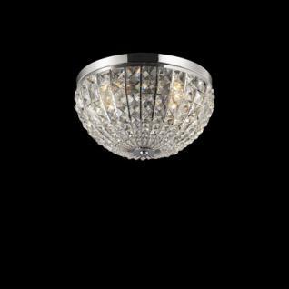 Wand-/ Deckenleuchte Metall chrom, Kristall transparent