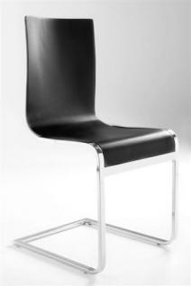 Design stuhl in schwarz kaufen bei richhomeshop for Stuhl design schweiz