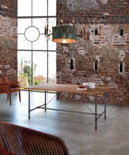 Esstisch, Tisch aus Mettall und Holz, im Lanhausstil in drei Größen - Vorschau 1